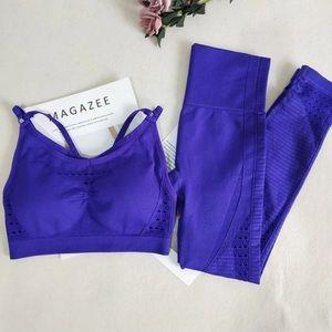 Purple Energy Seamless Activewear Set